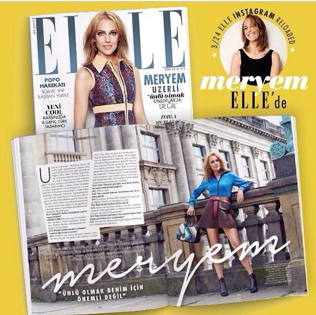 Мерьем Узерли, для журнала «Elle Turkey»!